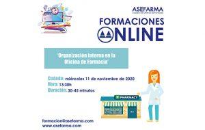 nueva sesión online organización interna en la farmacia
