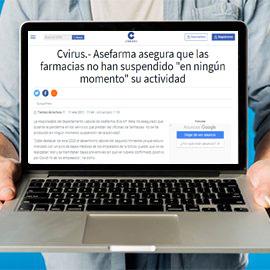 COPE - Asefarma asegura que las farmacias no han suspendido en ningún momento su actividad
