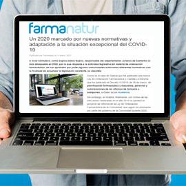 FARMANATUR - Un 2020 marcado por nuevas normativas y adaptación a la situación excepcional del COVID-19