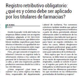 EL GLOBAL - Registro retributivo obligatorio